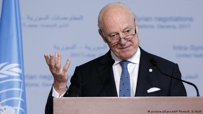 Genf Staffan de Mistura, UN-Sondergesandter für Syrien