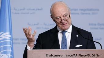 Genf Staffan de Mistura, UN-Sondergesandter für Syrien (picture-alliance/AP Photo/S. Di Nolfi)
