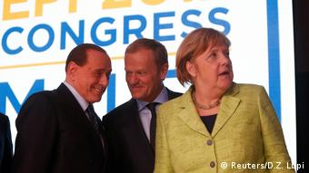 Malta Gipfel der European People Party EPP | Berlusconi & Tusk & Merkel (Reuters/D.Z. Lupi)