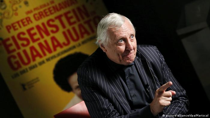 Spain director Peter Greenaway presenting his latest film 'Eisenstein in Guanajuato' (picture-alliance/dpa/Mariscal)