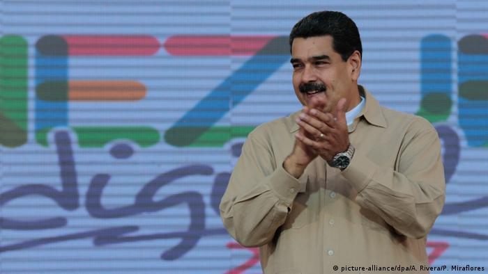 Venezuelas Präsident Nicolas Maduro (picture-alliance/dpa/A. Rivera/P. Miraflores)