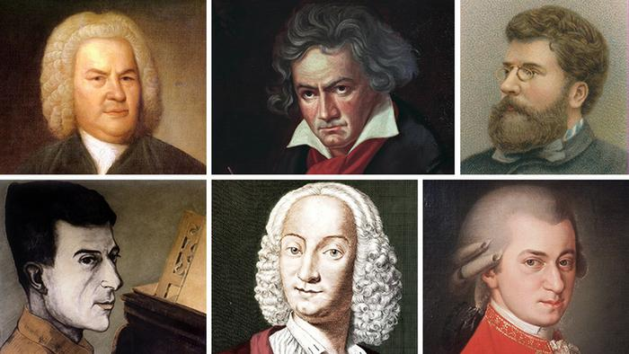 A selection of great composers
