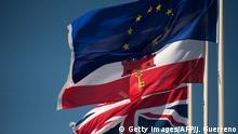 Flagge des Union Jack, Gibraltar und der EU