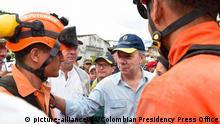Kolumbien Mehr als 90 Tote bei Überschwemmungen Präsident Santos