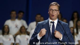 Serbien Aleksandar Vucic (picture-alliance/AP Photo/D. Vojinovic)