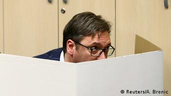 Serbien Präsidentschaftswahl Aleksandar Vucic (Reuters/A. Bronic)