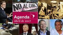 Symbolbild Agenda Abril de 2017 Spanisch