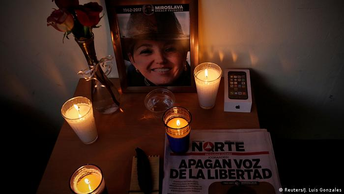 Mexiko Gedenken Miroslava Breach Journalistin Zeitung El Norte