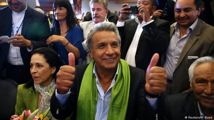 Ecuador Lenin Moreno gewinnt Präsidentenwahl in Quito (Reuters/M. Bazo)