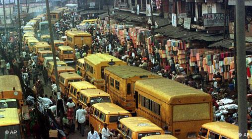 Verkehrsstau in Lagos Nigieria (AP)