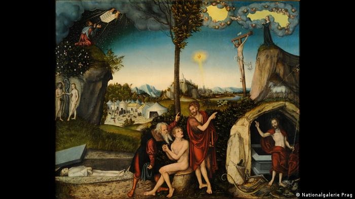 Cranach The Law and the Gospe