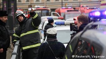 Russland Explosion Metro in Sankt Petersburg
