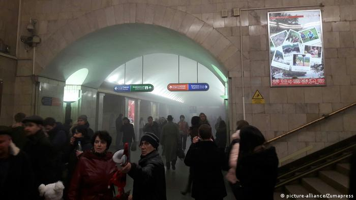 Russland Explosion Metro in Sankt Petersburg (picture-alliance/Zumapress)