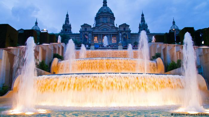Spanien Barcelona Brunnen am Montjuic (picture-alliance/Eibner)