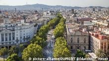 Spanien Barcelona Flaniermeile Las Ramblas