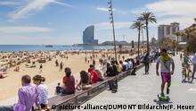 Spanien Barcelona Strandpromenade
