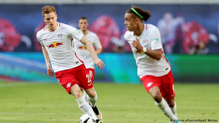 Players of RB Leipzig during a match against Darmstadt(picture-alliance/dpa/J. Woitas)