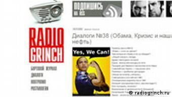 Screenshot Radio Grinch Blog