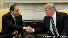 USA Abdel Fattah al-Sisi und Donald Trump