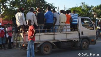 Mosambik Tarif-Streik in Maputo (DW/L. Matias)