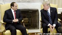 USA Abdel Fattah al-Sisi und Donald Trump in Washington