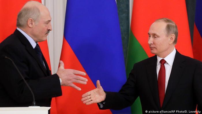 Александр Лукашенко и Владимир Путин (фото из архива)