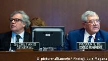USA OAS-Treffen in Washington - Luis Almagro Lemes und Leonidas Rosa Bautista