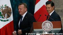 Mexiko Enrique Pena Nieto empfängt Lars Lokke Rasmussen in Mexiko-Stadt
