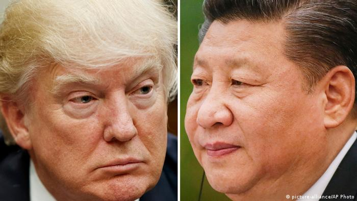 Donald Trump und Xi Jinping (picture-alliance/AP Photo)