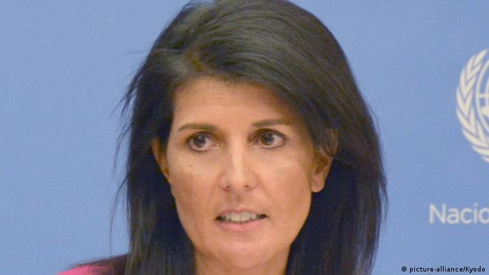 USA Nikki Haley in New York (picture-alliance/Kyodo)