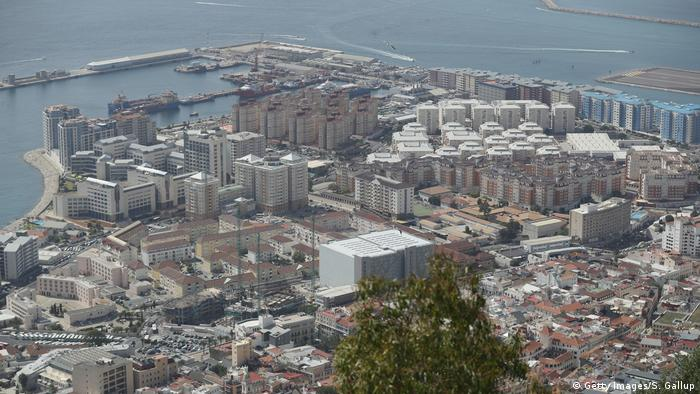 Вид на столицу Гибралтара, которая носит то же название