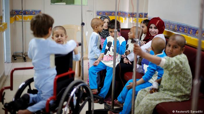 Children on the cancer ward