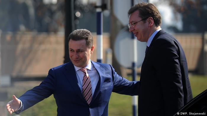 Mazedonien Serbien Vucic bei Gruevski