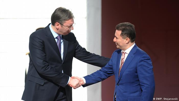 Srbijanski premijer Vučić i njegov makedonski kolega Gruevski u Skopju 2015.