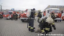 Russland Rettungskräfte am Sennaja-Platz in Sankt-Petersburg