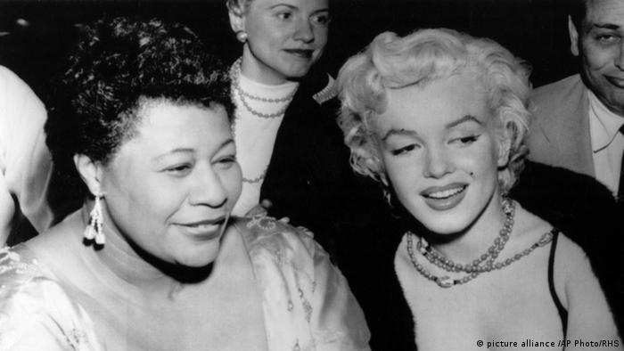 Marilyn Monroe and Ella Fitzgerald (picture alliance /AP Photo/RHS)