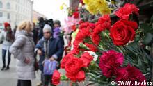 Russland Morgen nach dem Terroranschlag in der U-Bahn in St. Petersburg