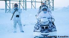 Russland arktische Militärbasis in Alexandra Land