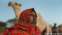 """+++Nur im Rahmen der abgesprochenen Berichterstattung zu verwenden!+++ Isiolo, Kenya, 17th of January 2017+++With camels you always have milk in your house"""", says 54-year-old Masai Ole Nkiu. Or: 54-year-old Masai Ole Nkiu decided to buy camels after almost half of his 190 cows died during a severe drought. (c) Jeroen van Loon"""
