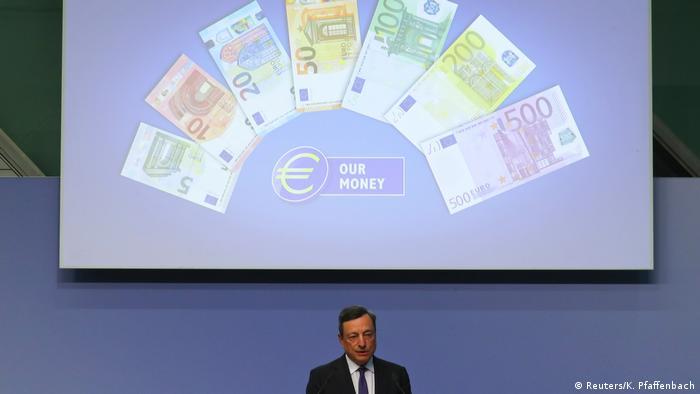 Deutschland Neuer 50-Euro-Schein soll sicherer gegen Fälschungen sein | Mario Draghi