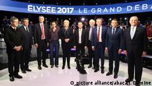 Frankreich elf Präsidentschaftskandidaten treten in TV-Debatte gegeneinander an