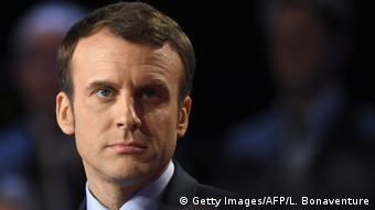 Frankreich Präsidentschaftskandidaten TV-Debatte - Emmanuel Macron