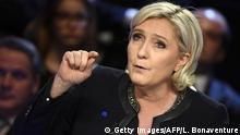 Frankreich Präsidentschaftskandidaten TV-Debatte - Marine Le Pen
