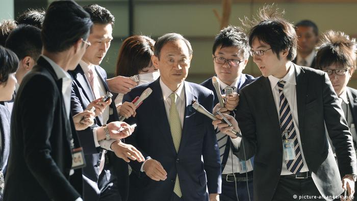 Japan Yoshihide Suga in Tokio (picture-alliance/Kyodo)