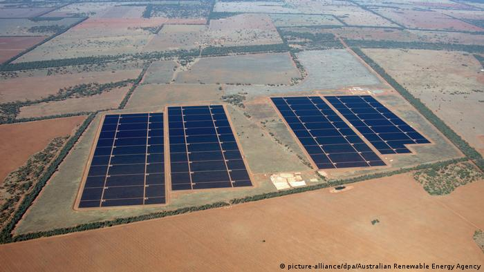 The newly completed Nyngan solar plant in New South Wales