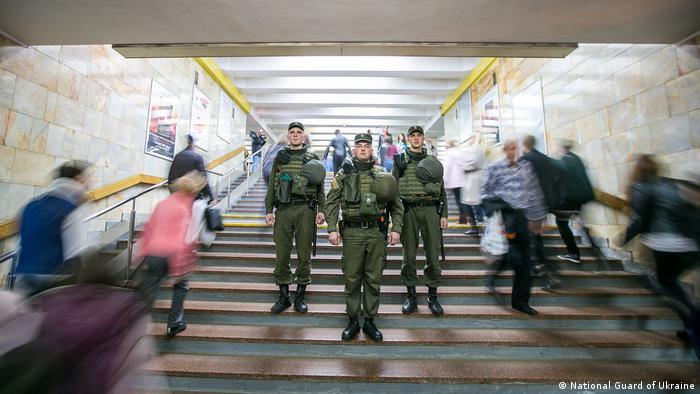 Нацгвардійці у київському метро