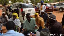 Wahlbeobachter der EU im Vorfeld der Parlamentswahl in Gambia am 05.04. Aufnahmedatum: 02.04. Aufnahmeort: Gambia DW, Vincent Haiges