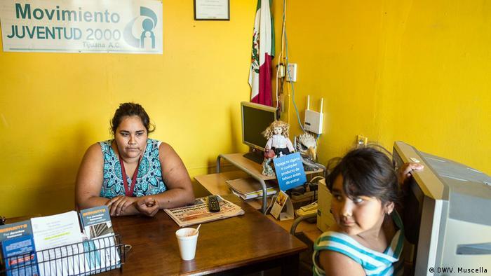 Linda Romero, director of the Moviemento Juventud 2000 shelter for migrants in Tijuana, Mexico