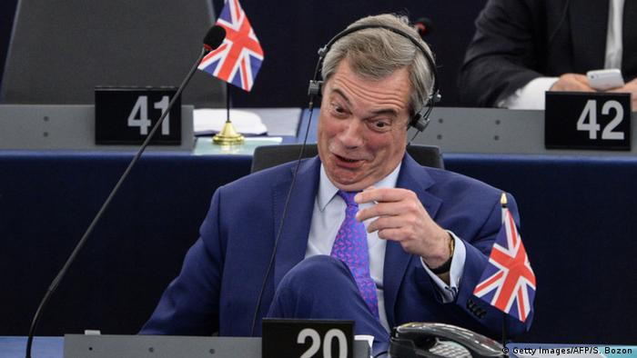 Europaparlament Brexit Debatte Farage (Getty Images/AFP/S. Bozon)