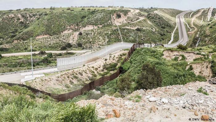 The US-Mexican border near Tijuana